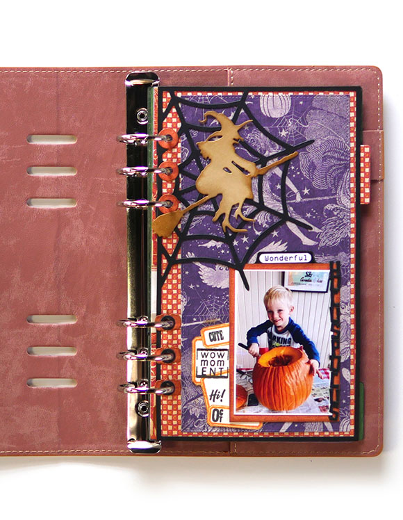 Journal with Halloween Themed Project