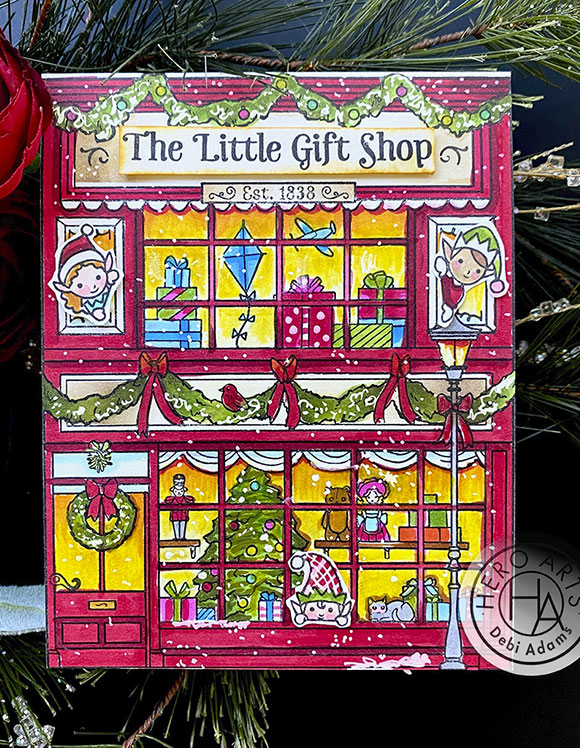 Little Gift Shop Card with Windows