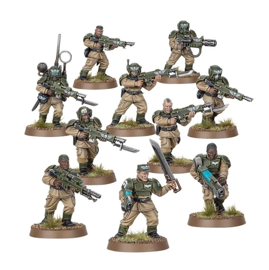 Cadian Shock Troops &amp; Upgrades<br>
