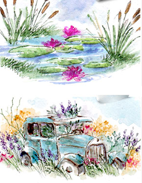 Art Impressions Watercolour Stamps