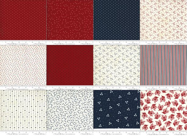 """<span style=""""font-size: 27px;"""">American Gathering from Moda</span><br>"""